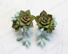 Hey, I found this really awesome Etsy listing at https://www.etsy.com/se-en/listing/269420989/green-succulent-earrings-polymer-clay