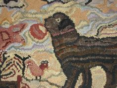 Hooked Rug Pattern - Big Dog Hollow by Briarwoodfolkart on Etsy https://www.etsy.com/listing/479928461/hooked-rug-pattern-big-dog-hollow