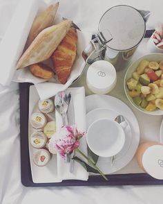 Good morning from Paris 💋 |830AM having #breakfast before #workingout…