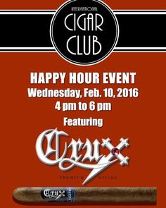 Tonight from 4-6pm at The ICC in Ahwatukee Az join @ftb_anthony and @joelrogerscrux for a Crux Happy Hour! Awesome deals and awesome cigars! #internationalcigarclub #gocruxyourself #botlazchapter #cigarlife #cigarevents #cigaraficionado #makethedamntime #cigarsociety #cigarsocialclub