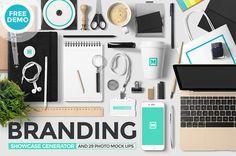 Branding Showcase Generator MockUp by Mockup Zone on @creativemarket