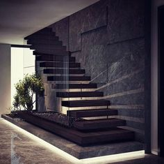 Home Stairs Design, Interior Stairs, Home Room Design, Dream Home Design, Modern House Design, Home Interior Design, Luxury Interior, Modern Stairs Design, Interior Office