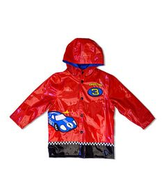 Love this Red Racing Track Raincoat - Infant, Toddler & Boys by Wippette on #zulily! #zulilyfinds