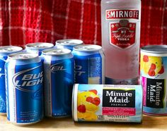 Hop skip and go naked: lemonade, beer, and vodka. Yum! Aka pink panty droppers maybe with coronas and limeade?!?.