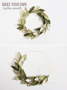 DIY Tutorial - How to make a Leather Wreath! Maybe make with felt instead?