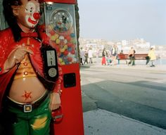Martin Parr - England. Cornwall. St Ives. The seafront and an arcade. 1993.