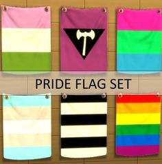 Pride flags set by argos93 at Mod The Sims via Sims 4 Updates