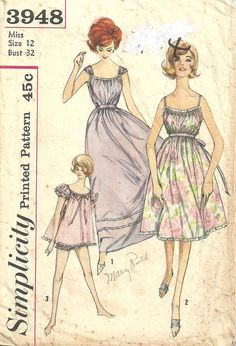 Simplicity 3948 / Vintage 60s Sewing Pattern / by studioGpatterns