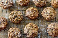 NYT Cooking: Thanksgiving Cookies. These remind me of Michigan Rocks, one of the many Christmas cookies my mom made