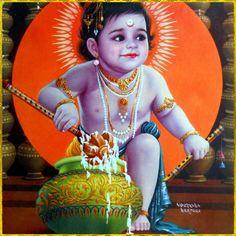 Baby Krishna butter thief