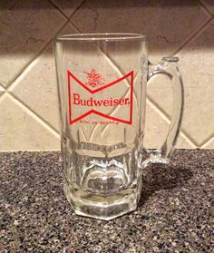 Vintage 1L Budweiser Glass Mug Stein on Etsy, $17.00