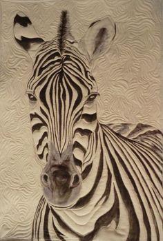 Original pattern, ZeBra quilt using tsukineko fabric inks By Sherrie Cahill