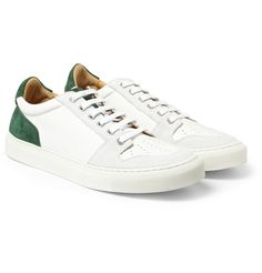 AMI - Leather and Suede Sneakers|MR PORTER