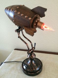 retro rocket desk lamp by artbug@etsy $21o