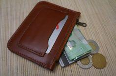 The Phlate Minimalist Zipper Wallet by LeatherLegion on Etsy-SR