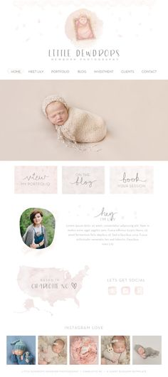 Wix Website design website template by SunnyBlossomDesigns on Etsy