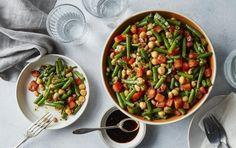 Balsamic Three-Bean Salad | Recipes | MyFitnessPal Myfitnesspal Recipes, Three Bean Salad, Three Beans, Clean Eating, Healthy Eating, Bean Salad Recipes, Heart Healthy Recipes, Salad Ingredients, Vegetable Recipes