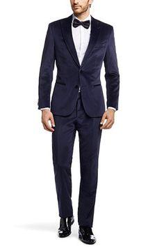 Vestito da sposo blu scuro classico per il 2015