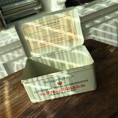 ≥ Vintage verbandtrommel B utermöhlen's verbandkist blik - Curiosa en Brocante - Marktplaats.nl
