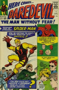 Guess who's fifty years old this month? Daredevil #1. April 1964.