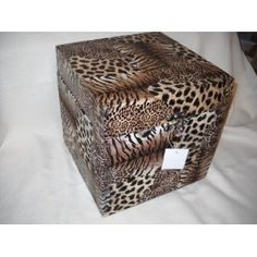 Leopard Animal Print Bedroom Trunk Storage Box Jungle Safari Decor