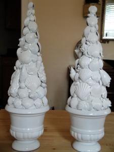 DIY Home Decor :DIY Shell Topiaries : DIY Topiaries
