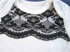 Made by Me. Shared with you.: Tutorial: Embellished Lace Onesie