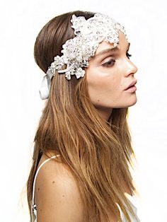 Alice Crystal Lace Tiara Headpiece