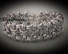 34 cadena de Maille pulsera Chainmaille por TroisPerles en Etsy
