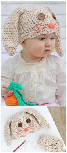 How To Crochet Bunny Hat - Free Pattern For Newborn-Toddler