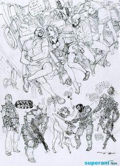 無草稿插畫(漫畫)家《金政基》在他身上沒有砍掉重練這種事 Illustrations, Illustration Art, Junggi Kim, Ligne Claire, Kim Jung, Figure Sketching, Cg Art, Sketchbook Inspiration, Beautiful Drawings