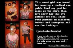 Patches for Laurelai {Light up Social media with Eye Patches} - Raising Soldiers 4 Christ