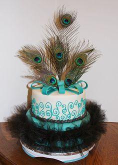 camo wedding cake | Carlas Cakes: Peacock Feather Wedding Cake  Camo Grooms Cake