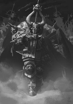 ArtStation - Chaos Warrior of Khorne, Simone Murgia