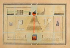 Aldo Rossi's unfinished San Cataldo Cemetery in Modena, Italy, was designed in 1971 and is considered one of the seminal Postmodern works Post Modern Architecture, Architecture Drawings, Modena Italy, Aldo Rossi, Drawing Projects, Dezeen, Master Plan, Postmodernism, Cemetery