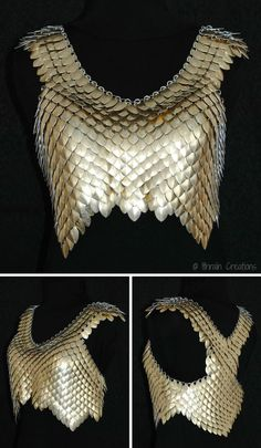 Ithraïn Creations — Tutorials : basic scalemail & shoulder part - All For Remodeling İdeas Cosplay Tutorial, Cosplay Diy, Bijou Geek, Scale Mail, Fantasy Costumes, Body Armor, Chain Mail, Costume Design, Ideias Fashion