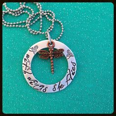 Custom hand stamped name necklace with by BlissStampedJewelry, $27.00