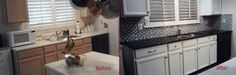 Kitchen Cabinet painting, backsplash, sink and counter replacement