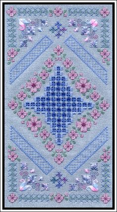 A lovely hardanger piece from India Grace Designs. I wish I were so talented as to do this piece!