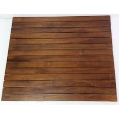 MGP Natural Teak Square Floor Mat in. Thick x 30 in. W x 30 in. L Solid Teakwood Flooring sq./Piece) Brown - Floor Mats - Ideas of Floor Mats Teak Flooring, Engineered Hardwood Flooring, Rubber Flooring, Hardwood Floors, Decorative Garden Stones, Rustic Canyon, Concrete Steps, Small Tiles, Shower Floor
