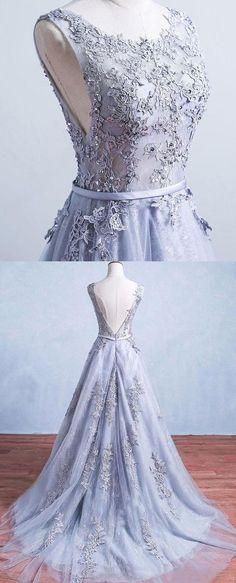 long a-line tulle dress #eveningdresses
