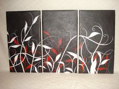 trio color and canvas plant art Let's Pretend, Plant Art, Creative Art, Flower Power, Truths, Diys, Projects To Try, Abstract Art, Canvas Art