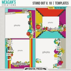 When you want your photo to be the star of your layout, look no further! These templates from from Meagan's Creations put your photo front and center with just enough embellishments to keep it the focus of your layout.