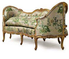 Louis XV giltwood canape en corbeille,