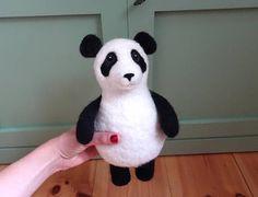 Panda Bär Spieluhr Musik Spielzeug gefilzte Tiere Filztiere