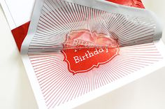 Use colored foil to make these super cool birthday cards.