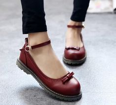 Retro cute bow Leather shoes · Women Fashion · Online Store Powered by Storenvy Shoes 2018, Women's Shoes, Oxford Shoes Outfit, Women Oxford Shoes, Buy Shoes, Shoe Boots, Shoes Women, Sneakers Women, Nike Sneakers