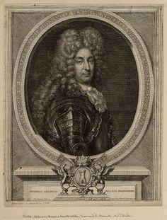 Alphonse de Fortia, Marquis de Forville et de Pilles (ob.1711). Lt.-Gal. des Armées du Roi en Provence, Gouverneur de Marseille, maréchal de camp puis Chef d'Escadre des Galères, chevalier commandeur de l'Ordre de Saint-Louis.