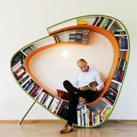 Bookworm Bookcase – Sit and Relax Surrounded by Your Favorite Books