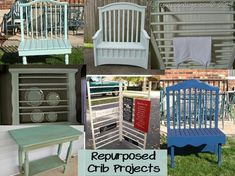 repurpose ideas | Repurposed Crib Projects @ Home Improvement Ideas